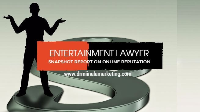 Dr. Miinala Marketing has announced the availability of a new entertainment lawyer snapshot report. The free report is designed to help entertainment lawyers realize how their online presence is currently being seen. The report will serve as the foundation from which the company can help the lawyers enhance their online presence with the result of generating more income by driving organic traffic to their website and generally gaining more customers.