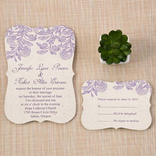 62 best fancy shapes wedding invitations images on pinterest lavender floral inspired purple spring bracket wedding invitation cards ewib267 as low as 114 stopboris Gallery