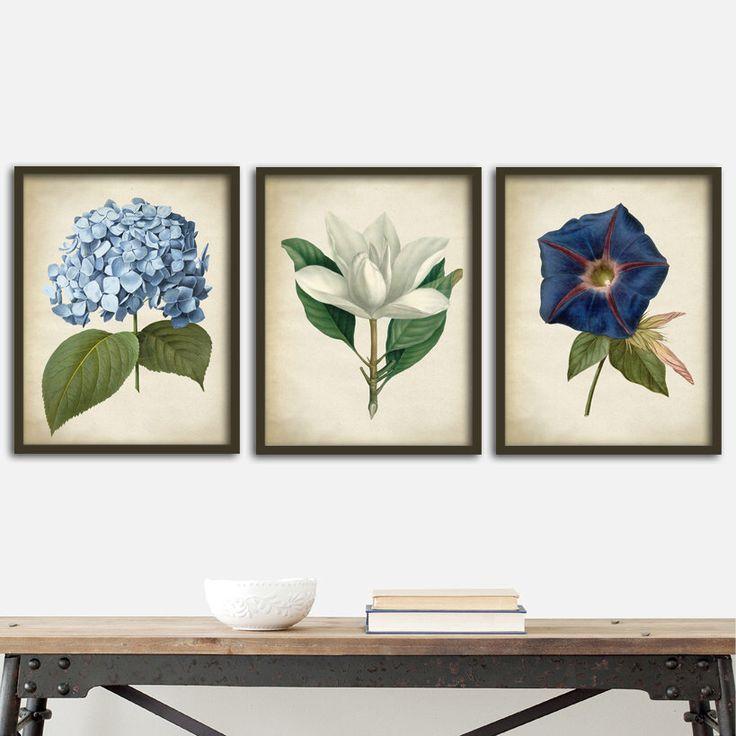Botanical print SET of 3 art posters, botanical kitchen decor, botanical  instant collection, flowers print set by ElementaryPrints on Etsy https://www.etsy.com/listing/465112372/botanical-print-set-of-3-art-posters