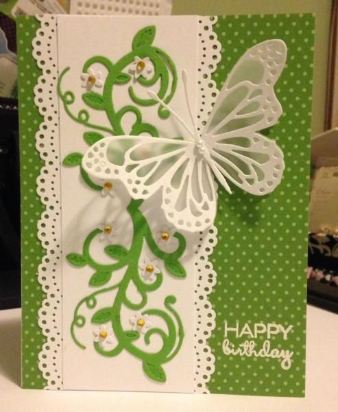 Handmade birthday card by bhappystamper using the Small Celebrations set from Verve.  #vervestamps