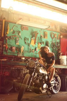 lady and the bike