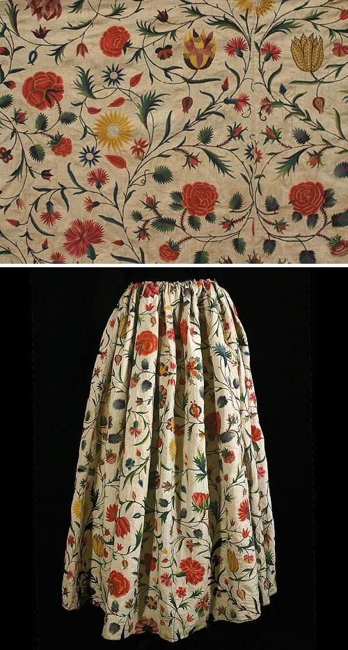 18th-century skirt & hand embroidery http://returnofcowboyprince.tumblr.com/post/15951316835/18th-century-skirt-hand-embroidery
