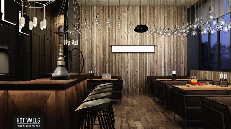 Дизайн интерьера бара-ресторана Tattler Bar: кальянная