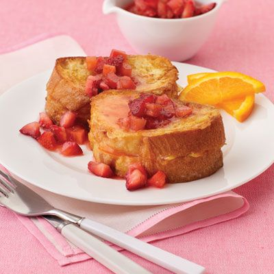 Strawberry Rhubarb Baked French Toast Recipe — Dishmaps