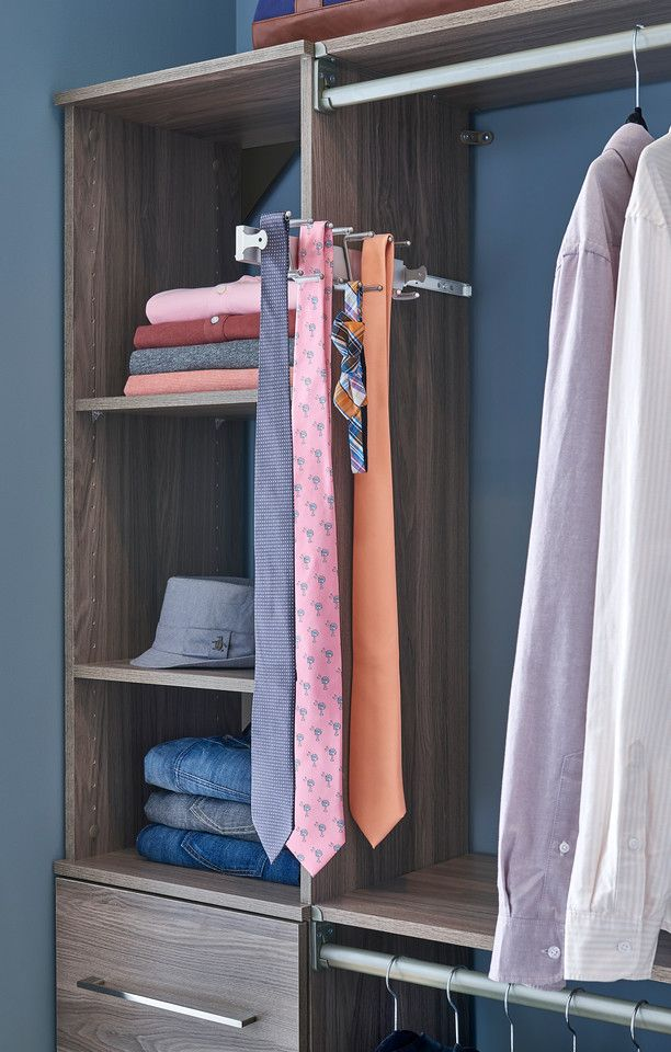 Getting Dressed For Monday Morning Meetings Should Be Easy Use A Tie Rack To Keep All Of Your Ties Organized And In One Belt Rack Closet Maid Tie Organization