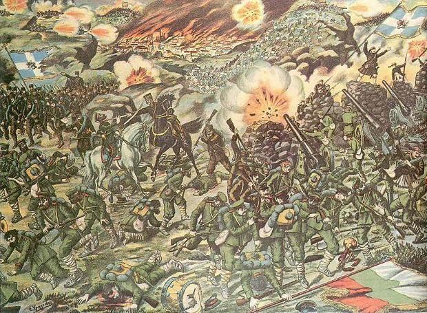 Η Μάχη του Κιλκίς - Λαχανά: Ελληνοβουλγαρική ένοπλη σύγκρουση σε τρεις τομείς, κατά τη διάρκεια του Β' Βαλκανικού Πολέμου. Η έκβασή της υπέρ των ελληνικών όπλων, άνοιξε τον δρόμο για την απελευθέρωση της Ανατολικής Μακεδονίας...