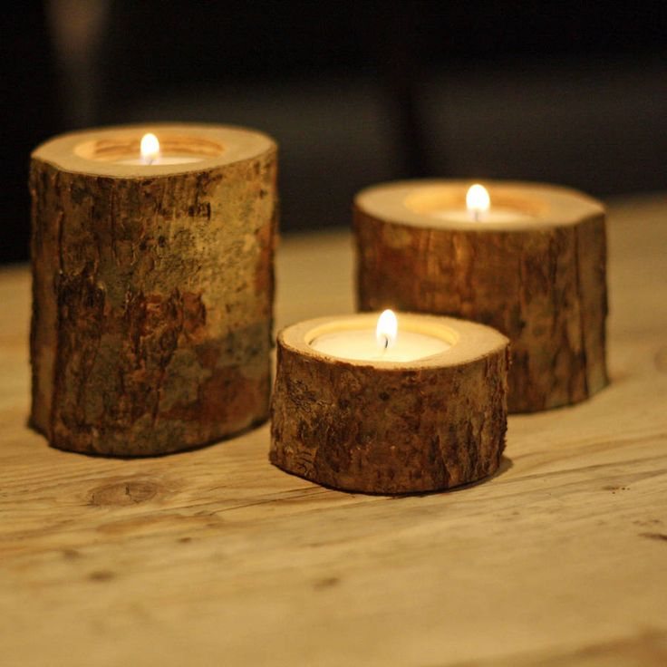 tree branch tea light holders set of three by the wedding of my dreams | notonthehighstreet.com