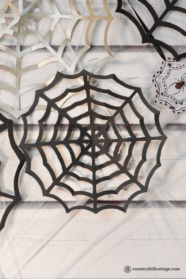 Paper Spider Web Spider Web Diy Diy Halloween Decorations