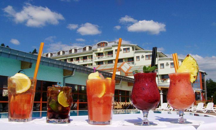 Enjoy drinks by the pool or in Lobbybar, Hotel Kaskady #gastronomy #restaurant #hotel #kaskady #coffee #drinks #lobbybar
