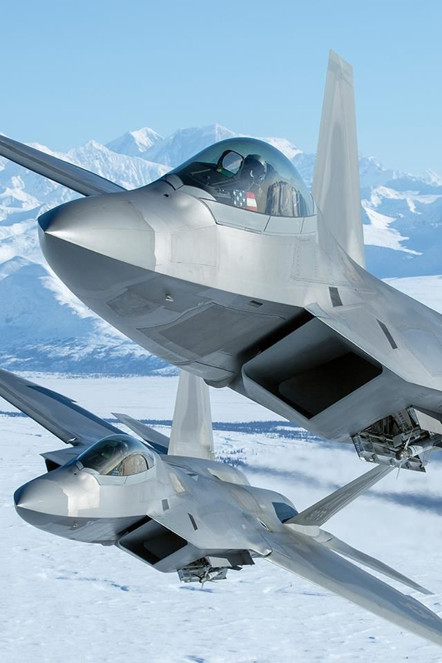 F-22A Raptor of the 3rd Fighter Wing from Elmendorf AFB, Alaska.
