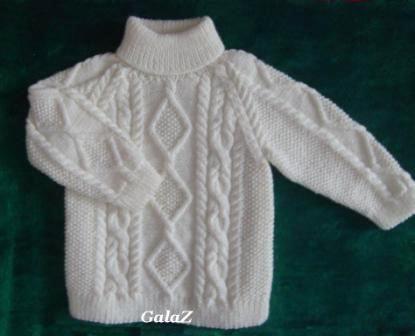 Вяжем детский свитер с горлышком