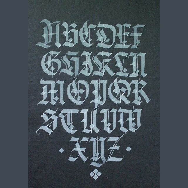 Gothic Capitals Alphabet // Andrey Martynov Remrk  #CalligraphyMasters…