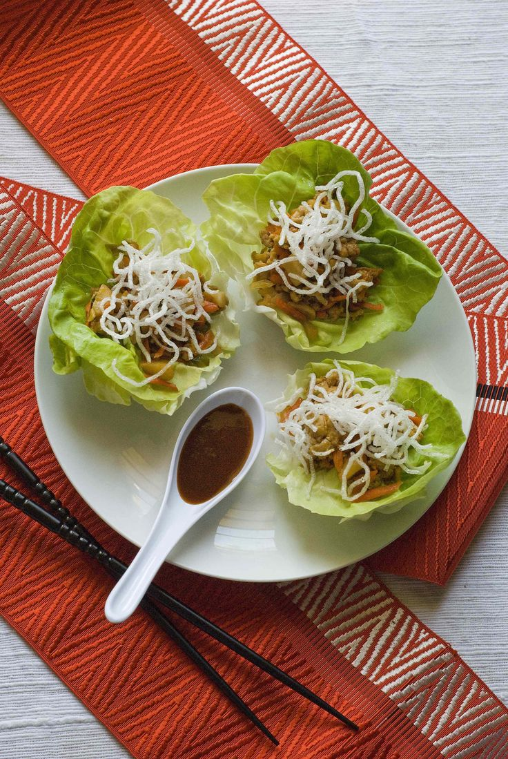 The Gluten-Free Chicken Lettuce Cups and Gluten Free Spring Rolls with Spicy Ginger Sauce are perfect to serve as a first course to your main meal or as unique appetizers at your upcoming celebration!
