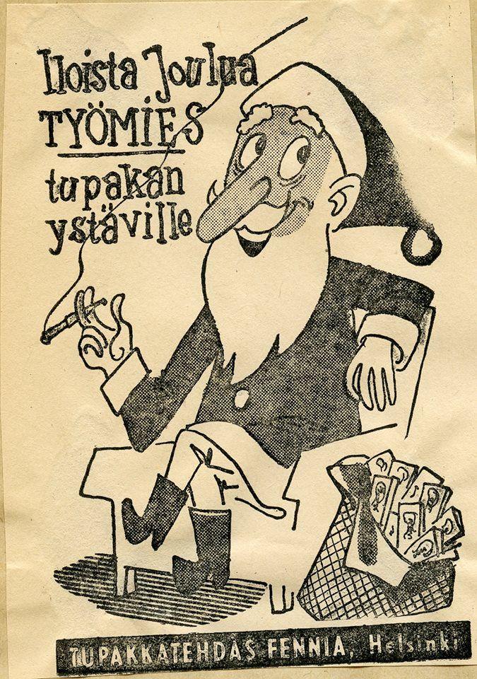 Tupakkatehdas Fennia #joulupukki #savukkeet #cigarettes #Christmas