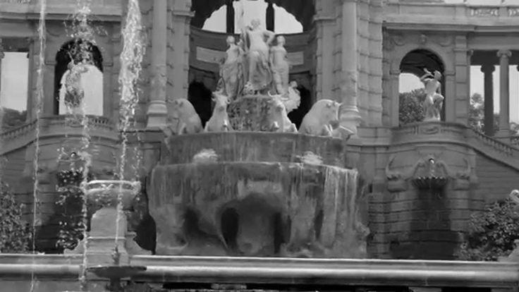 Le Palais Longchamp à Marseille. Animation 3D, visite virtuelle dans une...