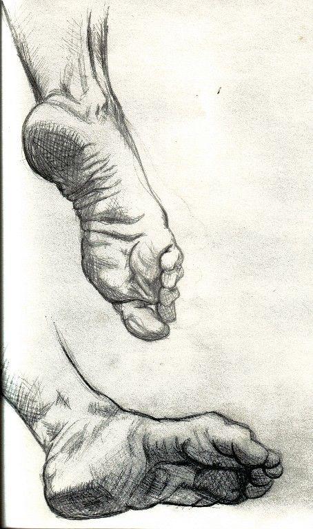 drawing feet x