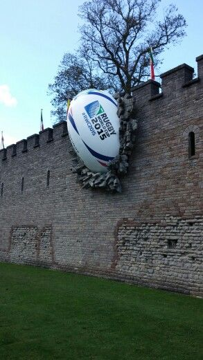 Cardiff castle, Wales. Rugby world cup - love this! Seems to have brought them good luck too. If you want among the action why not check our upcoming Six Nations 2016 packages http://www.activitybreaks.com/six-nations-packages-and-tours/