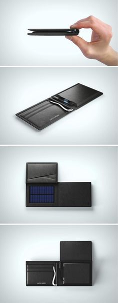 World's 1st smart wallet with solar + USB charge & tracking! The Solar Wallet comes with various tools to empower you, itself, and your phone. It comes with an internal money clip and space to hold up to 8 cards, giving you full financial power. Built in RFID protection, so that your cards stay well out of the range of wary scammers. It empowers itself with features like TrackR 2.0 that allow you to remotely locate the wallet and its slim power bank that can charge itself with solar panel.