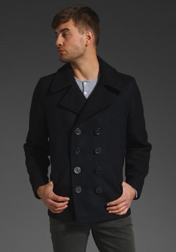 Dugan Pea Coat Fashion Coat Navy