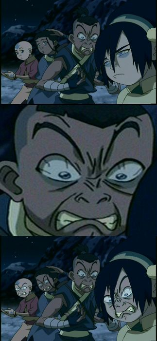 LOL....? all 4 with Sokka's expresion? Let's stick with only sokka..