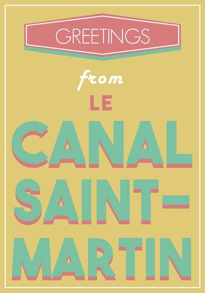 carte postale quartiers Paris postal card canal Saint-Martin