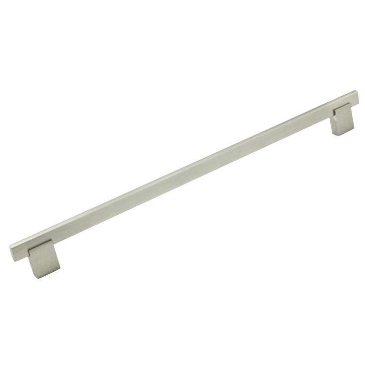 "Rok Bridge-style Brushed Nickel Pull Handle (Pack of 10) (10 Pk Bridge Pull BN 10-1/8"" Centers, 11-3/8"" L)"