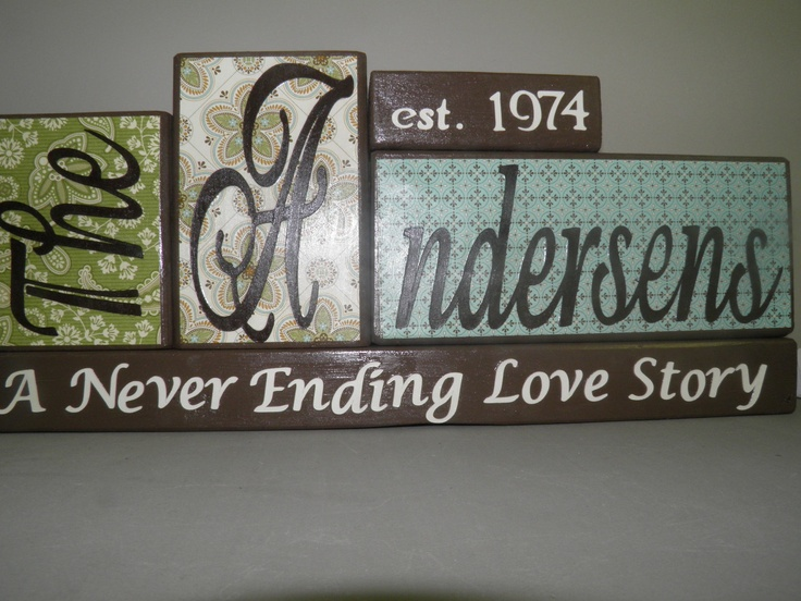 Family Name Wooden Block with Year Established (Last Name 6 or more letters), Custom Block, Home Decor, Family Decor, Name Decor. $30.00, via Etsy.