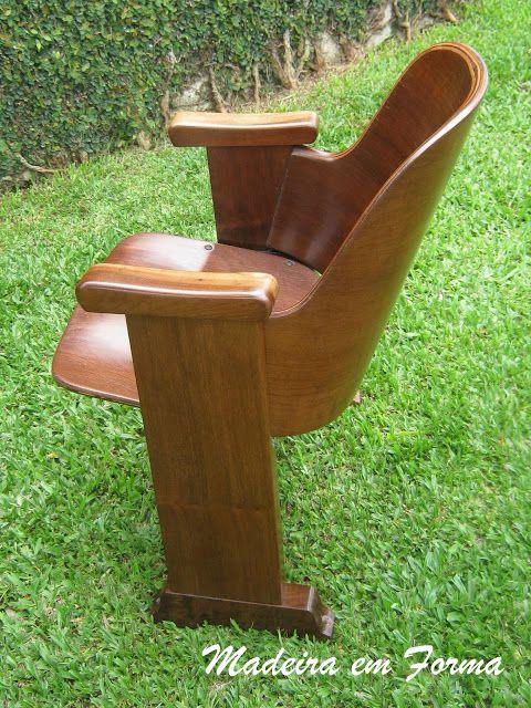 Restauração de Móveis de Época : CIMO - Cadeira de cinema.