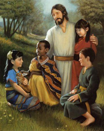 Jesus loves the little children.   All the children of the world.