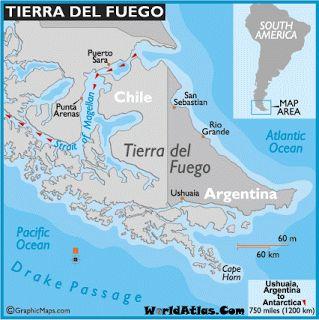 Tierra del Fuego Mapa #chile #tierradelfuego