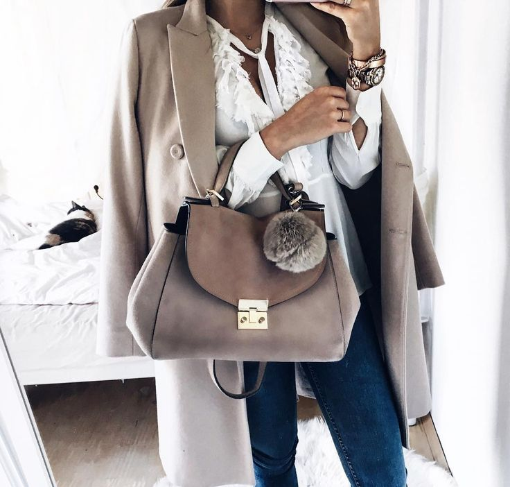 Beige tones for fall style.