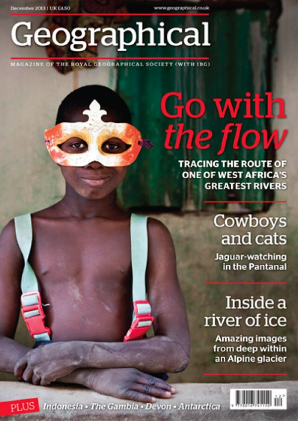 Jason Florio's 'Boy in the Mask' - cover shot : Geographical Magazine https://www.facebook.com/RiverGambiaExpedition?ref=hl