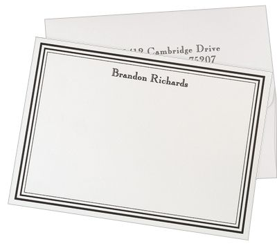 11 best Executive Note Cards images on Pinterest Index cards - personalized invoices
