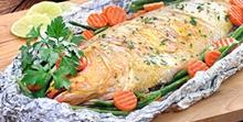 Pescado en marinada de mostaza y perejil