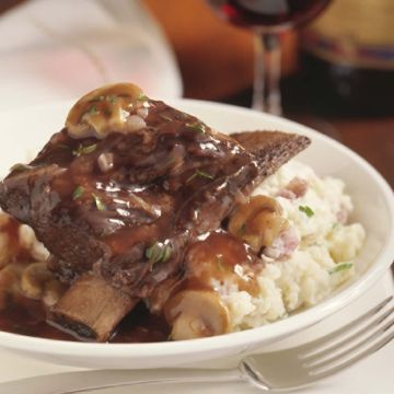 Braised Short Ribs with Red Wine Sauce. Check out this recipe and more at beefitswhatsfordinner.com