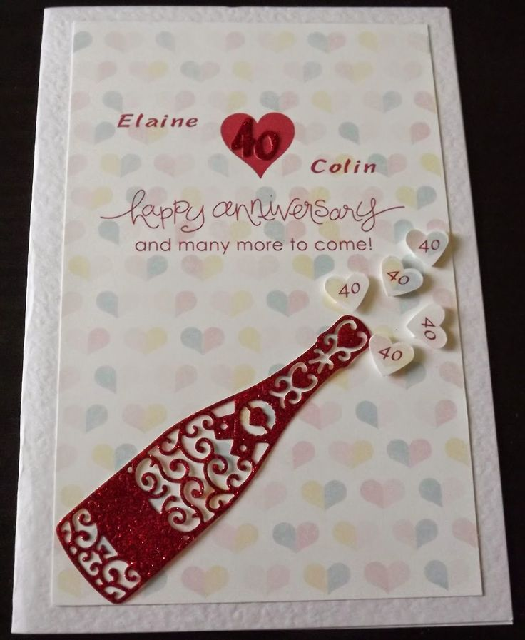 Ruby wedding Anniversary card using My Digital Studio and Tattered Lace dies.