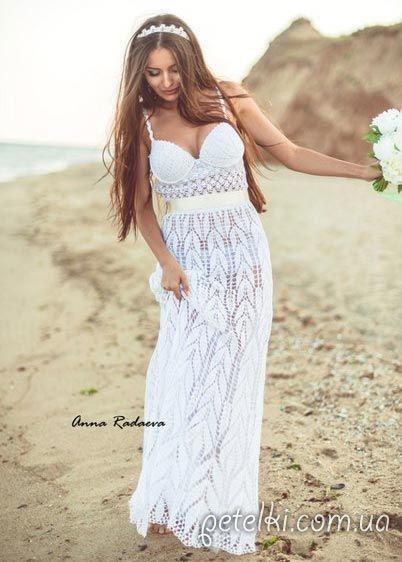 Платье Август от Анны Радаевой. Схемы вязания крючком