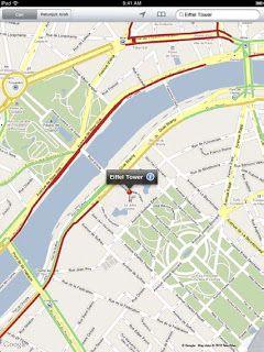 search traffic on ipad 2 map