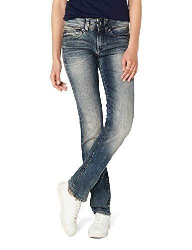 332f45cfe61 G-STAR RAW Damen Straight Jeans Midge Saddle Mid Wmn-Amazon Exclusive Style  Blau (Dk Aged 89) W27/L30