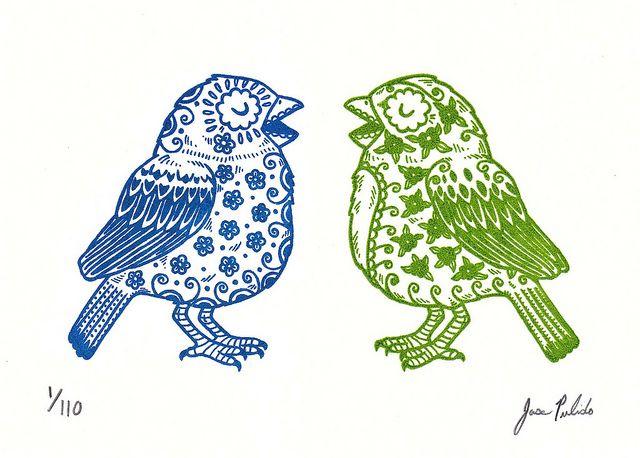Sugar Skull Birds by misnopalesart on flickr
