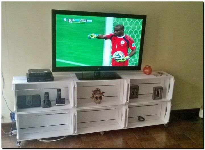 fruit crates tv stand plan