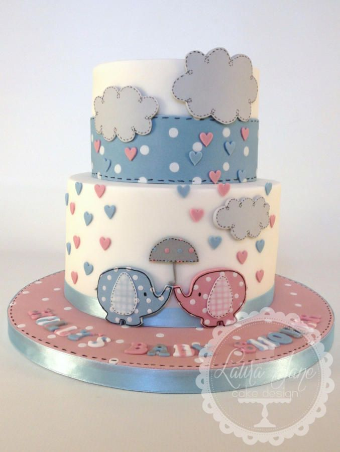 Neutral Baby Shower - For all your cake decorating supplies, please visit craftcompany.co.uk