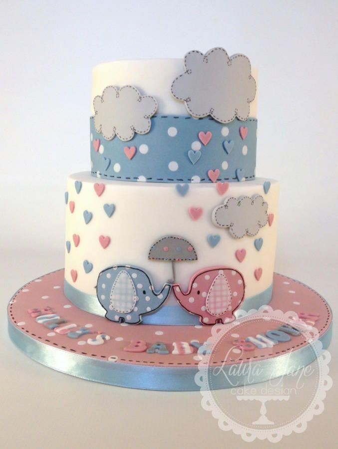 Bela ideia de bolo para quem ainda não sabe o sexo do bebê