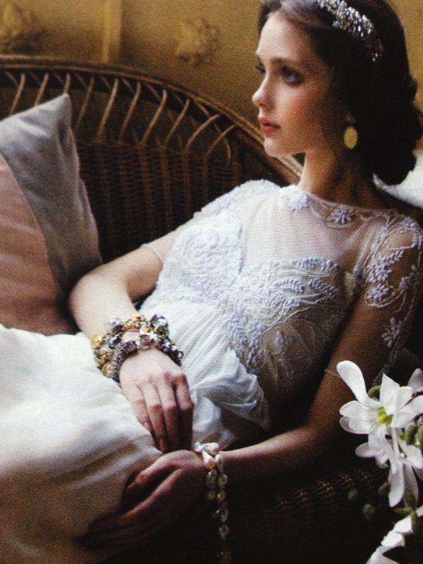 Vogue Sposa 2014 ...Bracciali giusti per il vintage look! #giuseppinagioielli
