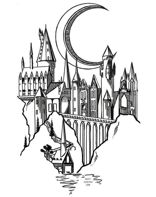As 25 melhores ideias de Hogwarts tattoo no Pinterest