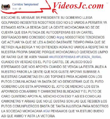 """""""Mensaje de Los Caballeros Templario para Enrique Peña Nieto - COMPLETO"""" ~ VideosJc.com Peliculas Completas, Entertaiment, News, Music, Seo"""