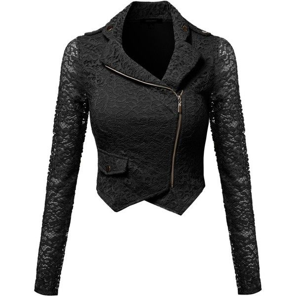 Gorgeous Lace Delicate Short Blazer Jacket with Zipper Closure Black... (£25) ❤ liked on Polyvore featuring outerwear, jackets, tops, coats, black, blazer jacket, zipper jacket, lace blazer, zipper blazer and zip jacket