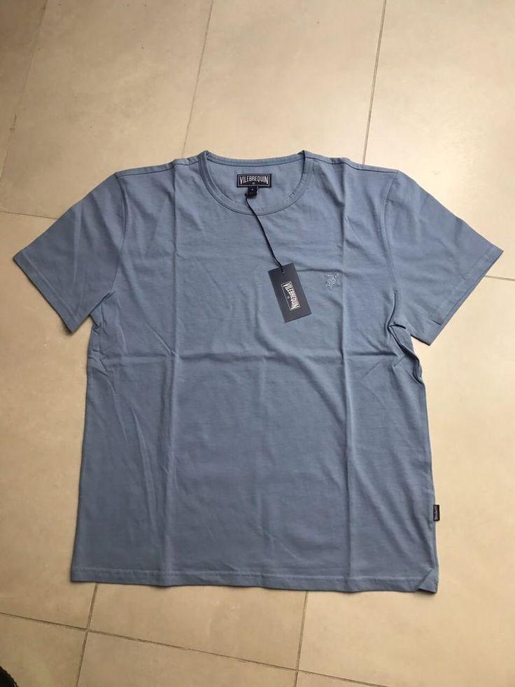 Vilebrequin Casual Men New Color Blue T-shirt Round Neck Chest Turtle size L #Vilebrequin #BasicTee