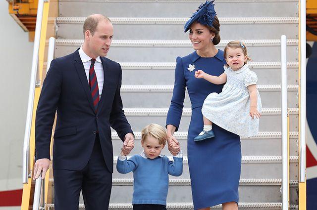 Кейт Миддлтон и принц Уильям с детьми прибыли с официальным визитом в Канаду