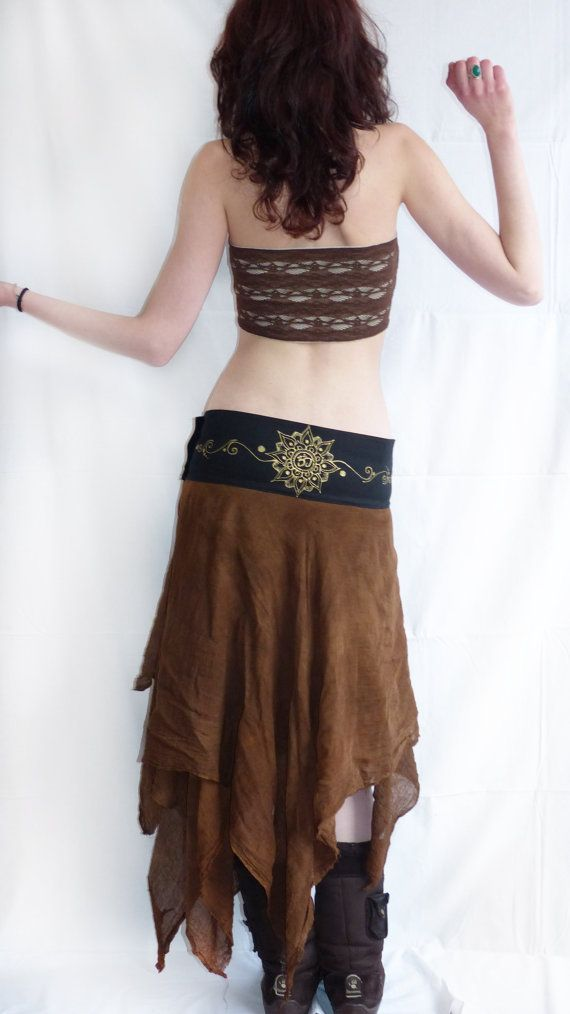 Maxi long wrap skirt. Tribal skirt warrior  by AbstractikaCrafts, £41.00